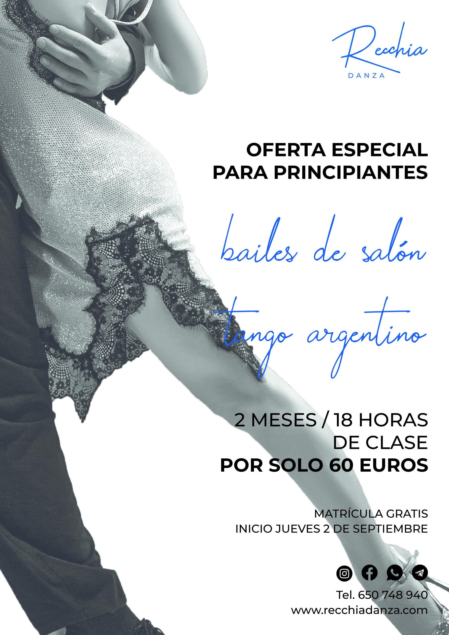 precios clases de baile latinos y tango